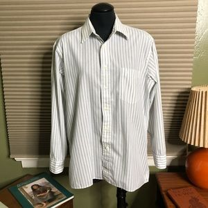 VTG Dior Stripped Button Down Shirt- Men's 16